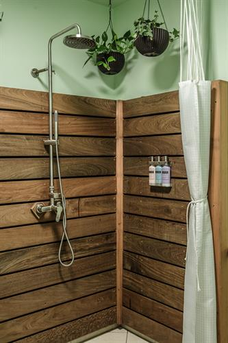 Spa-Inspired Restroom with Rainfall Shower