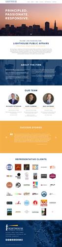 Lighthouse Public Affairs Web Design