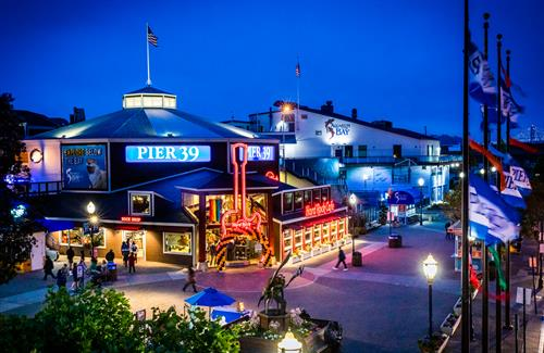 The beautiful Pier 39 in the evening.