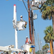 Gulf Power lineworkers