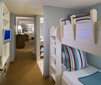 Bunk beds are available in every room of the Emerald Tower.