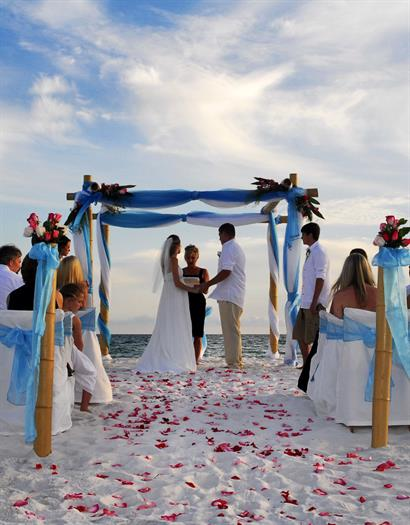 Destination weddings are popular here on the Emerald Coast