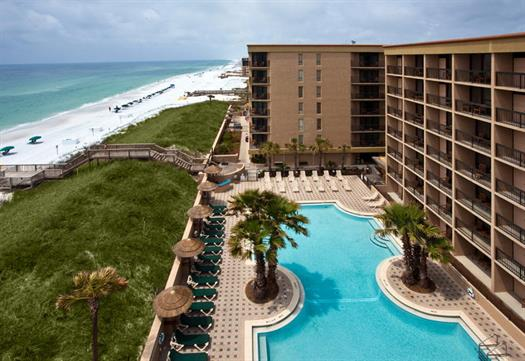 The Wyndham Garden Fort Walton Beach is a fuly beachfront resort