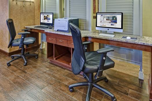 Complimentary Business Center Featuring Mac and PC