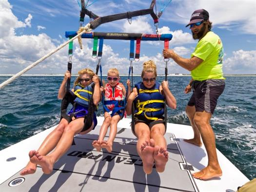 Family on Parasailing Tour in Destin