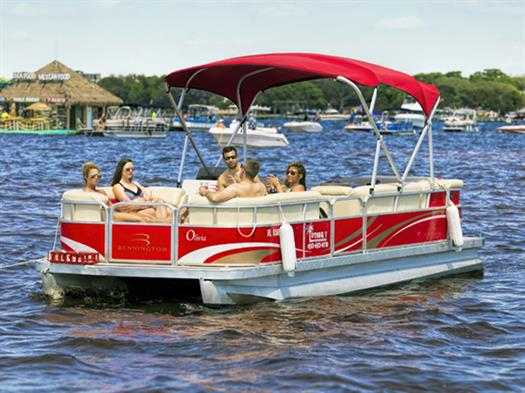 Pontoon Boat Rental in Destin at Crab Island
