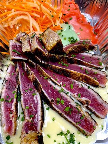 Blackened Tuna Sashimi & Appetizers