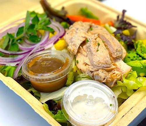 House Salads with Chicken, Shrimp, Lobster Salad, Tuna
