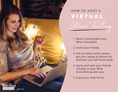 Host a Virtual Wine Tasting - $39.95 Includes: 6 bottles of wine *Retail: $150+