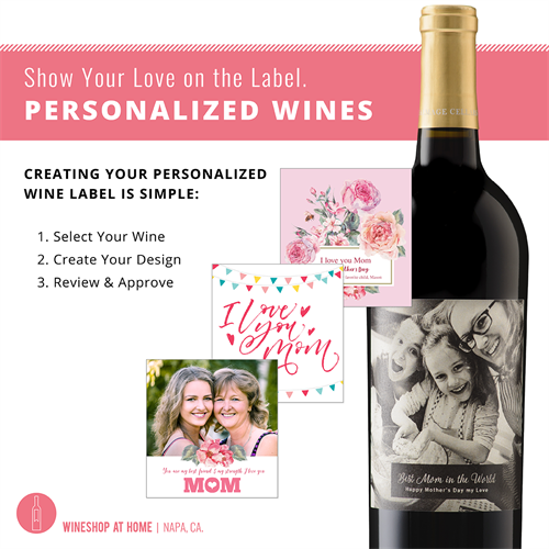 Create Personalized Wine for a unique gift. Select Your Wine, Create Your Design, Review * Approve right on my Website.