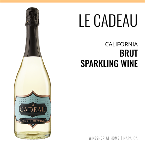le Cadeau California Brut Sparkling Wine. ASK your consultant for VinNotes to this wine and MORE!