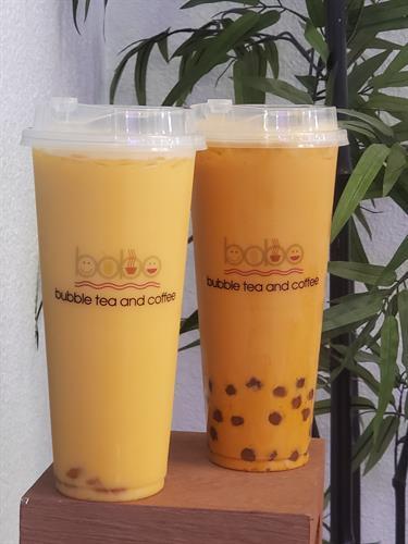 Mango and Thai Milk Teas