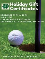 Pine Meadows Holiday Gift Certificates