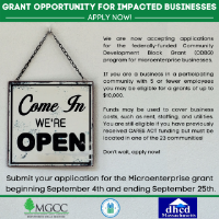 CDBG Grants for Microenterprises Now Accepting Applications