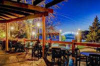The one-of-a-kind patio at Pier 500 with stunning views of the St. Croix River.