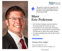 Meet Eric Pederson, Mortgage Loan Originator in the St. Croix Valley and beyond! Eric has been helping clients achieve their dream of homeownership for the past 16 years. Stop in to meet Eric, or click on his website epederson@waterstonemortgage.com to get your mortgage application started today! #GetToKnowYourLO