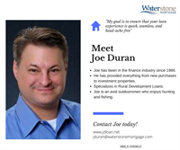 Meet Joe Duran, Mortgage Loan Originator in the St. Croix Valley and beyond! Joe has provided everything from new purchases to investment properties in the last 30+ years! Stop in to meet Joe with any questions you may have, or click on his website www.jdloan.net to get your mortgage application started today! #GetToKnowYourLO https://hudson-wi.waterstonemortgage.com/Home