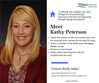 Meet Kathy Peterson, Mortgage Loan Originator in the St. Croix Valley and beyond! Kathy has been in the new construction and existing home markets for 25 years! Stop in to meet Kathy, or click on her website www.kathydpeterson.com to get your mortgage application started today! #GetToKnowYourLO