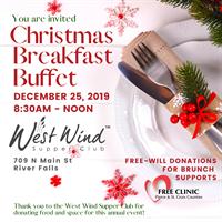 West Wind Christmas Breakfast Buffet