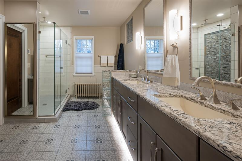Total bathroom redo in a 1930s Tutor in Minneapolis