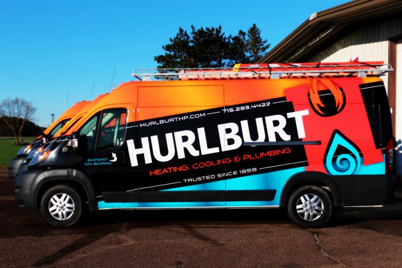 Our brightly colored service vehicles stand out!