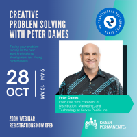 YP Professional Development Class (PDC) -  Creative Problem Solving with Peter Dames, sponsored by Kaiser