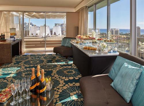 Exquisitly prepared catering events. 19th floor Diamond Head suite