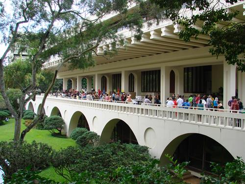 The lanai of Jefferson Hall/Imin Center is a popular place for special events and receptions.
