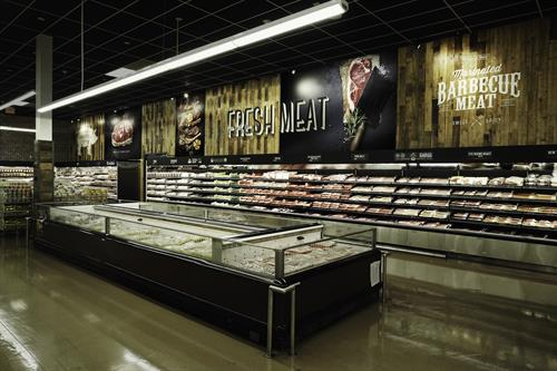 H Mart Meat Section- Marianted BBQ meat!