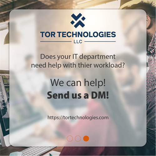 Does your IT department need help with their workload? We can help! Contact us!