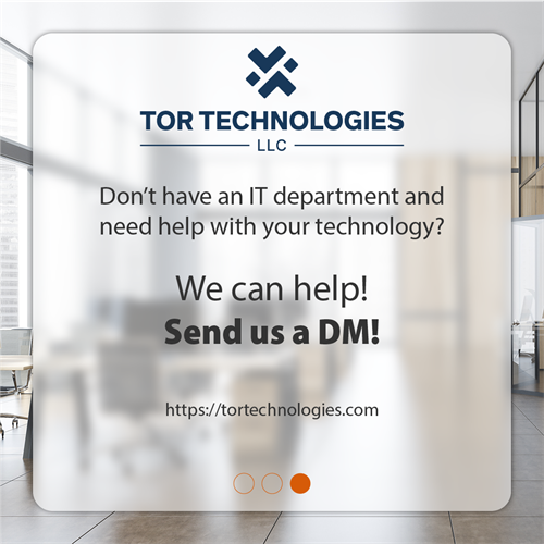 Don't have an IT department and need help with your technology? We can help! Contact us!
