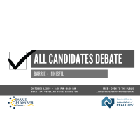 All Candidates Debate: Barrie - Innisfil - October 8, 2019