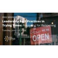 FREE WORKSHOP: Leadership Best Practices in Stressful Times: Preparing for Reopening