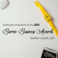 Barrie Business Awards Nomination Deadline - July 6, 2020