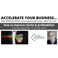 FREE WEBINAR: Accelerate your business… how to improve clarity & profitability!