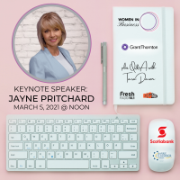 WOMEN IN BUSINESS: Jayne Pritchard - Keynote Presentation