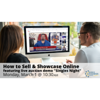 "FREE WEBINAR: How to Sell and Showcase Online - featuring live auction demo ""Singles Night"""