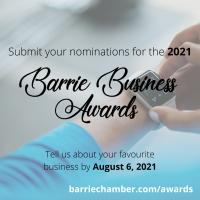 Barrie Business Awards Nomination Deadline - August 6, 2021