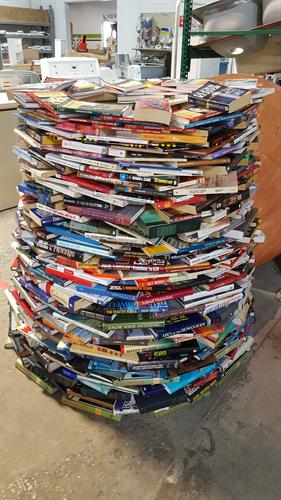 Volunteers made a book tree!