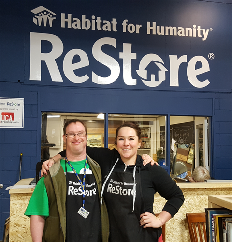ReStore volunteers: Garnet and Shelby