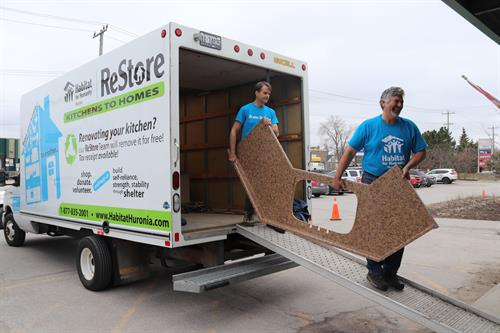 Our volunteers will remove your kitchen - for Free - to be sold in the ReStore. You receive the tax receipt and help us build  homes!