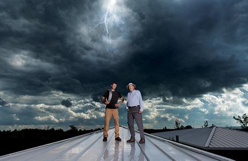 Photo taken by Dockside Publishing for Simpson's Lightning Rods