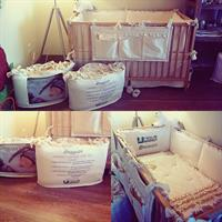 Organic crib bedding and latex mattress