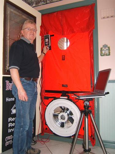 Blower door and energy advisor