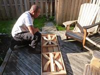 folded cedar bench