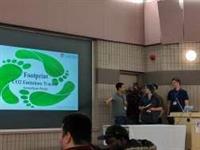 Footprint presenting their idea to greenHACK judges