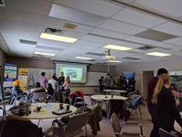 greenHACK teams working hard at the environmental hackathon