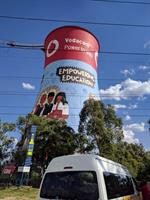 1 of 2 repurposed smoke stacks - now also a bungee jumping location. Soweto, South Africa