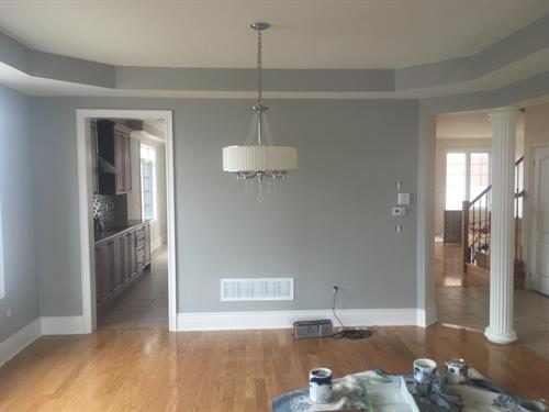 Grey tones are very popular. Our client chose two shades of grey!