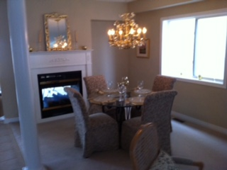 Client's dining room. PKD Painting painted all walls ceilings,pillars and trim!